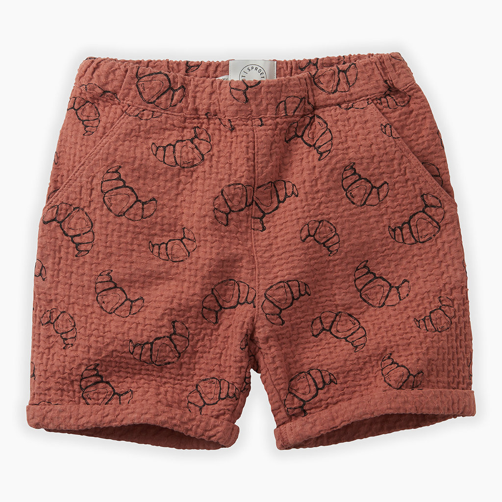 Sproet & Sprout Shorts print Croissant
