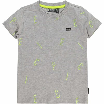Tumble 'n Dry Tumble 'n dry t-shirt grijs Light grey melange Gosso