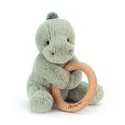 jellycat Jellycat;  Dino Wooden Ring Toy