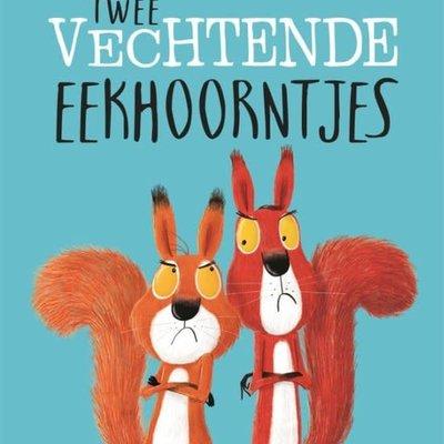 kinderboek: twee vechtende eekhoorntjes