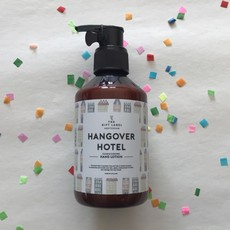 The gift label The gift label;  hand lotion Hangover hotel