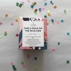 The gift label The gift label;  candle tin small take a walk on the wild side fresh cotton