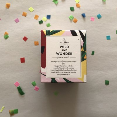 The gift label The gift label;  candle tin small Wild and wonder jasmin vanilla