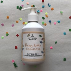 The gift label The gift label;  baby shampoo Happy Little handsome