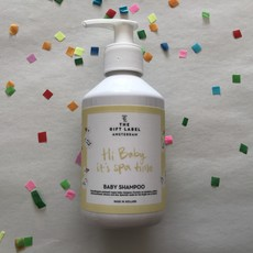 The gift label The gift label;  baby shampoo Hi baby it's Spa time