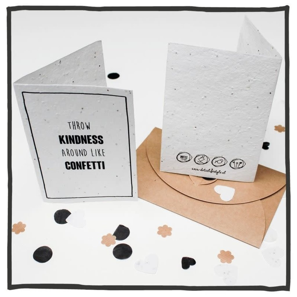 Groeikaart Kindness like confetti