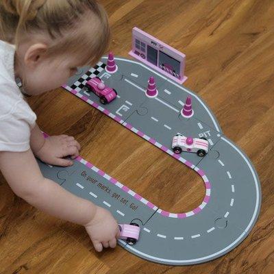 Kids Concept Racing car set pink
