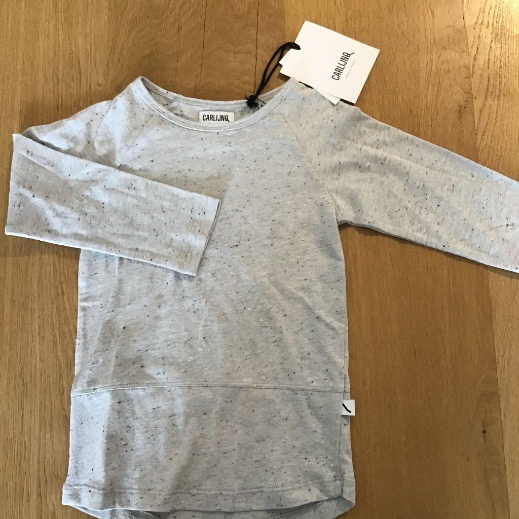 CarlijnQ; Basics grey- t-shirt long sleeve 122/128