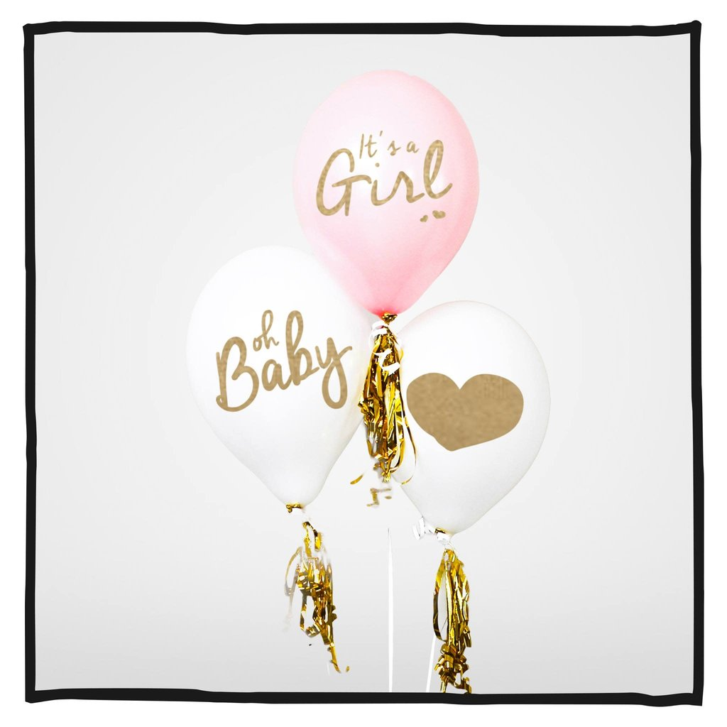 Ballonnen It's a girl! 30 stuks