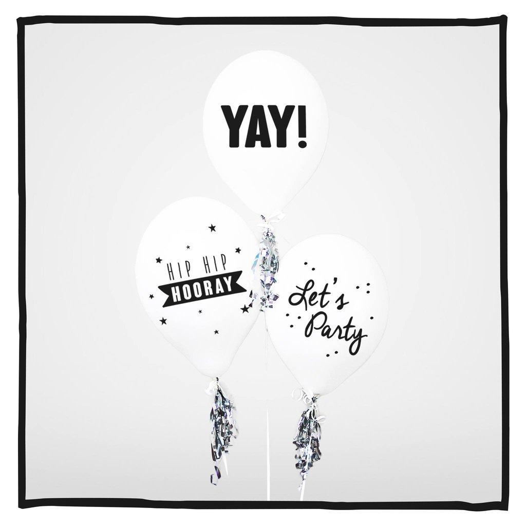 Ballonnen Let's Celebrate! wit 30 stuks