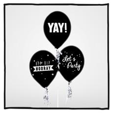 Ballonnen Let's Celebrate! zwart 30 stuks