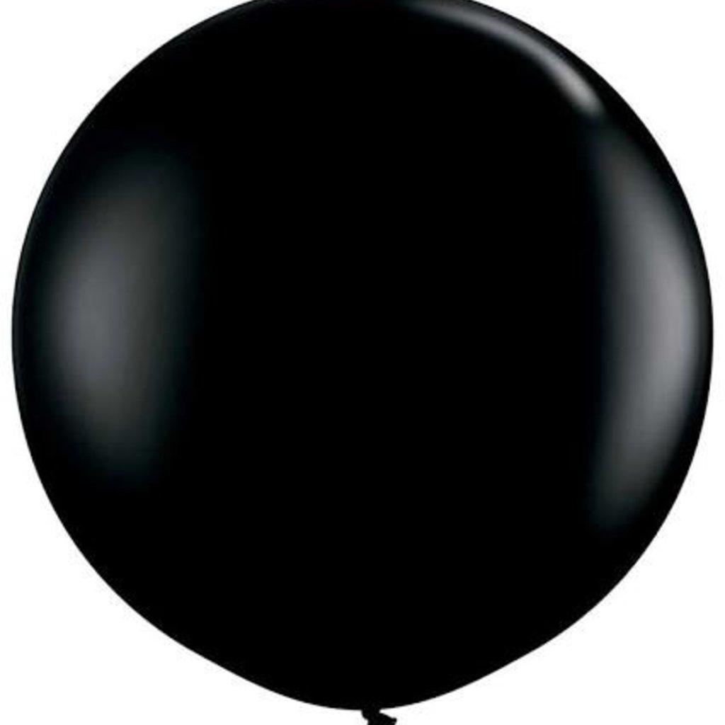 Mega ballon zwart 90 cm 6 stuks Globos