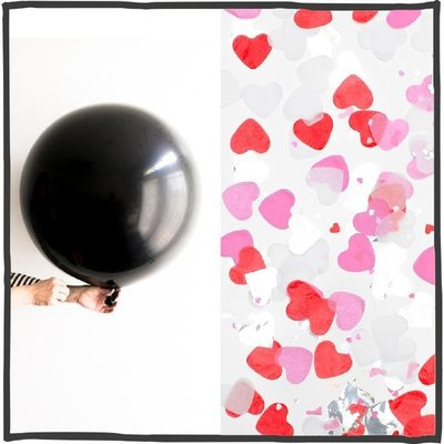 Gender reveal ballon 90cm Roze