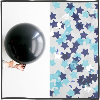 Gender reveal ballon 90cm Blauw