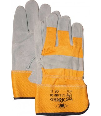 M-Safe Splitlederen Werkhandschoenen zware A-kwaliteit