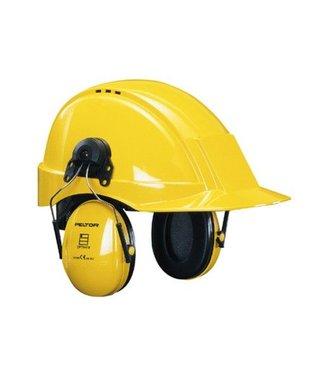 3M - Peltor 3M - Peltor Gehoorkap Optime 1, geel helmbevestiging