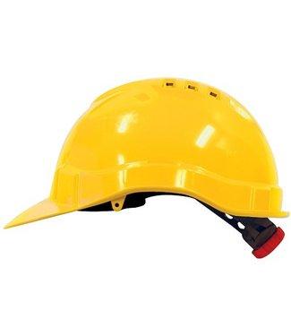 M-Safe M-Safe MH6010 Veiligheidshelm met draaiknop geel