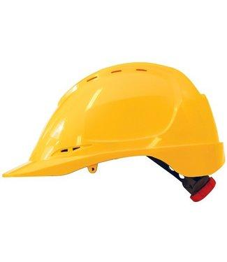 M-Safe M-Safe ABS veiligheidshelm MH6020 draaiknop geel