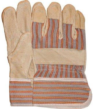 M-Safe Varkensnerflederen werkhandschoenen gestreept doek