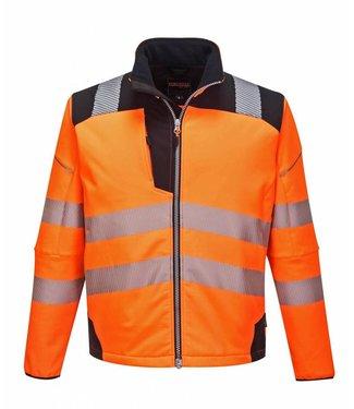 Portwest Portwest Hi-Vis Softshell Jack T402 Oranje/Zwart
