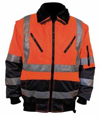M-Wear M-Wear 0964 Pilotjack Oranje/Marine, 3-in-1