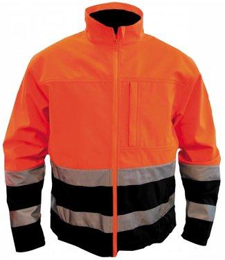 M-Wear M-Wear 1300 softshell jas Oranje/Marine