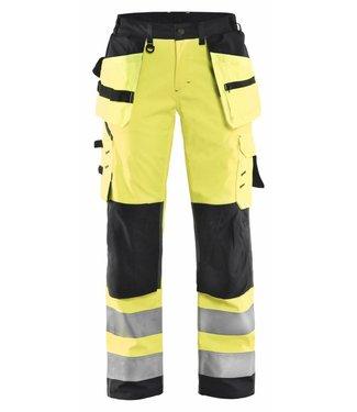 Blaklader Blåkläder 7167-2517 Dames Softshell werkbroek High Vis Geel/Zwart