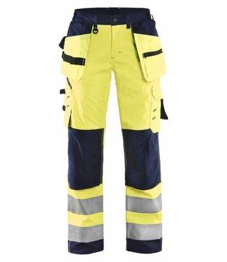 Blaklader Blåkläder 7167-2517 Dames Softshell werkbroek High Vis Geel/Marineblauw