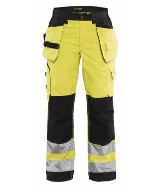 Blaklader Blåkläder 7156-1811 Dames werkbroek High Vis met spijkerzakken Geel/Zwart