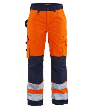 Blaklader Blåkläder 7155-1811 Dames werkbroek High Vis zonder spijkerzakken Oranje/Marineblauw