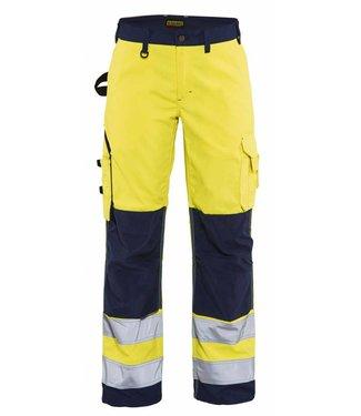 Blaklader Blåkläder 7155-1811 Dames werkbroek High Vis zonder spijkerzakken Geel/Marineblauw