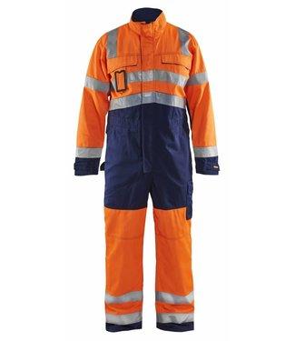 Blaklader Blåkläder 6373-1804 Overall High vis Oranje/Marineblauw