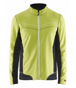 Blaklader Blåkläder 4997-1010 Microfleecevest Lime/Zwart