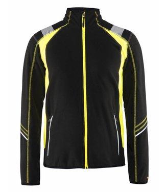 Blaklader Blåkläder 4993-1010 Microfleecevest Visible Zwart/Geel