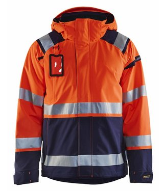 Blaklader Blaklader 4987-1987 Shelljack High Vis Oranje/Marineblauw