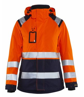 Blaklader Blåkläder 4904-1987 Dames Shell jack High Vis Oranje/Marineblauw