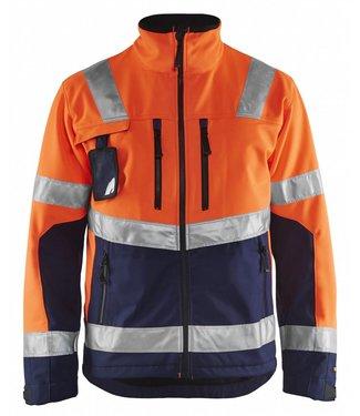 Blaklader Blaklader 4900-2517 Softshell jack High Vis Oranje/Marineblauw