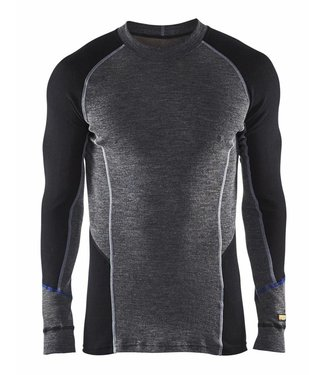 Blaklader Blaklader 4897-1732 Onderhemd 100% Merino WARM Grijs/Zwart