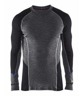 Blaklader Blåkläder 4897-1732 Onderhemd 100% Merino WARM Grijs/Zwart