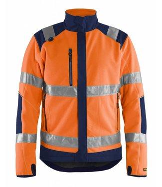 Blaklader Blaklader 4888-2524 Winddicht Fleecejack High Vis Oranje/Marineblauw