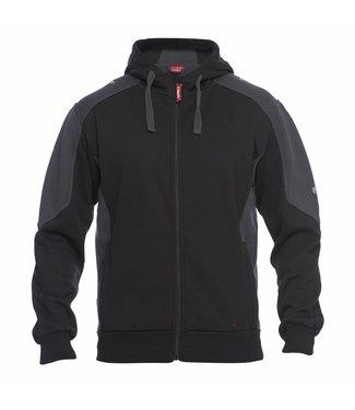 F.Engel F.Engel 8820-233 Hooded Sweater Zwart/Grijs