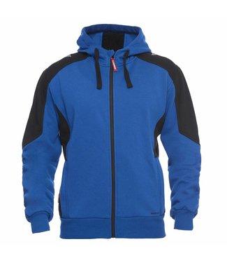 F.Engel F.Engel 8820-233 Hooded Sweater Korenblauw/Anthraciet