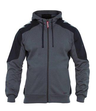 F.Engel F.Engel 8820-233 Hooded Sweater Grijs/Zwart