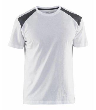 Blaklader Blaklader T-Shirt 3379-1042 Wit/Grijs