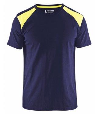 Blaklader Blaklader T-Shirt 3379-1042 Marine/Geel