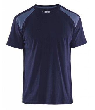 Blaklader Blaklader T-Shirt 3379-1042 Marine/Grijs