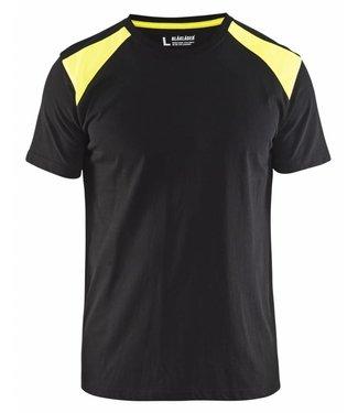 Blaklader Blaklader T-Shirt 3379-1042 Zwart/Geel