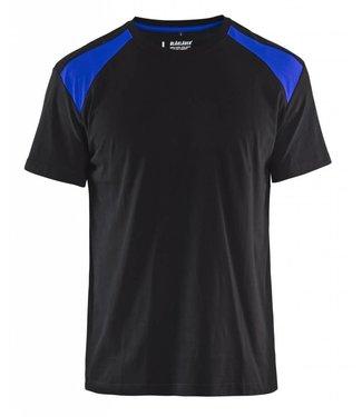 Blaklader Blaklader T-Shirt 3379-1042 Zwart/Korenblauw