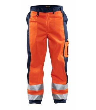 Blaklader Blaklader HIGH VIS broek 1583-1860 Oranje/Marine