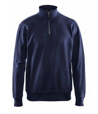 Blaklader Blaklader 3369-1158 Sweater met 1/2 Rits Marineblauw